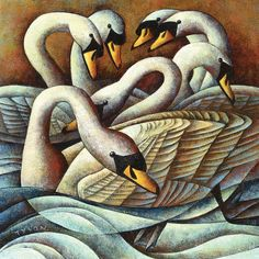 Seven Swans-A-Swimming by Sara Tyson