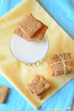 Whole Wheat Graham Crackers - Bless This Mess