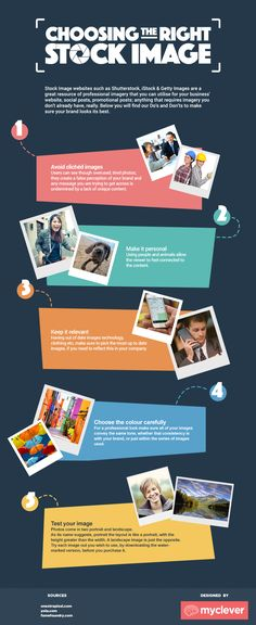 Choosing the Right Stock Image #Infographic #design