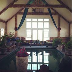 Indoor pool in a barn