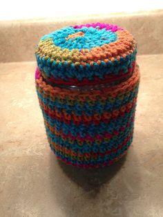 Crocheted jar candle cover candles aromatherapy wax candles