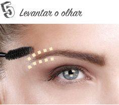 LEVANTAR O OLHAR >>> Aplique corretivo em cima e abaixo das sobrancelhas para levantar o olhar.