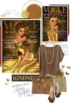 """Vogue Disney Princess (Belle)"" by somatramoroi ❤ liked on Polyvore"