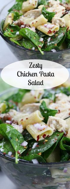 Zesty Chicken Pasta Salad has a subtle balance of tang to spice with red chili pepper flakes, feta, onion and garlic. Simple, fresh and easy to make, this pasta salad is perfect anytime of year. http://www.thefedupfoodie.com
