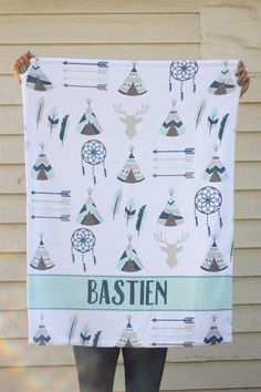 Personalized baby receiving blanket deer and antlers swaddle blanket this blanket makes the perfect baby shower presentthey are made with super soft fleece with a shiny finish they are perfect lap size for stroller rides or negle Images