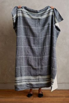 Rustic Linen Blanket - anthropologie.com