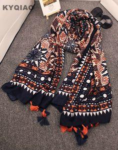 Ethnic print scarf luxury brand hijab scarf 2017 women autumn winter Spain style bohemian hippie tribe print tassels scarf #Hijabs http://www.ku-ki-shop.com/shop/hijabs/ethnic-print-scarf-luxury-brand-hijab-scarf-2017-women-autumn-winter-spain-style-bohemian-hippie-tribe-print-tassels-scarf/