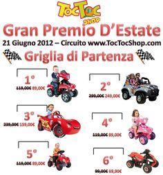 TocTocShop Summer Grand Prix, Moto, Auto, Quad Elettrici per Bambini