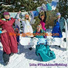 My ski bunny bachelorette party. Snow snowboarding Photos by www.jgiffinphotos.com