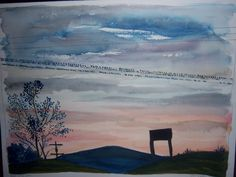 I painted this from a photograph that was taken by my cousin Maggie.