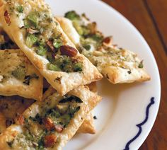 Broccoli, Blue Cheese and Almond Tarts