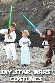 Disney Costumes Dress you kids up in these DIY Star Wars costumes! - Learn how to modify available patterns and make Luke, Leia and Obi-Wan Star Wars Costumes.