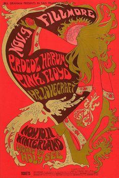 Designer: Nicholas Kouninos Pink Floyd - H.P. Lovecraft - Procul Harum, Fillmore Auditorium - Winterland. 11/9/1967 - 11/10-11/1967