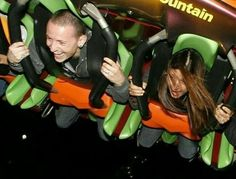 Looks like Chester was, having loads of fun on that  Rollercoaster!