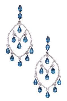Topaz Pear Chandelier Earrings by Hilary Joy on @HauteLook