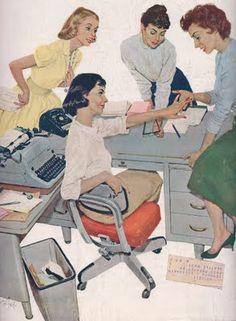 Engaged! #vintage #illustration # secretary