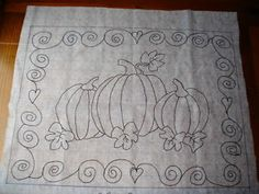 free rug hooking patterns | Pumpkins Rug Hooking Pattern on Gridded Trace Fabric Hooked Hook ...