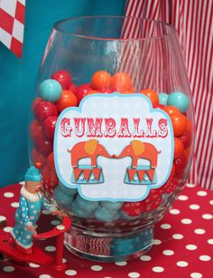 "Photo 6 of 22: Circus/Carnival / Birthday ""Circus Carnival Birthday Party Candy Bar"" 