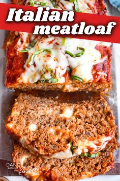This cheesy, flavorful Italian Meatloaf is such a fun twist on the classic comfort food! #Meatloaf #GroundBeef #ItalianFood