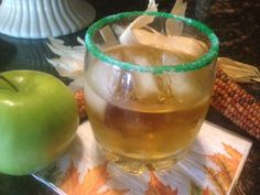 Please visit my daily recipe page: Seasonal and Holiday Recipe Exchange * link button below Green Apple Vodka Recipe, Vodka And Apple Juice, Halloween Cocktails, Holiday Drinks, Fall Recipes, Holiday Recipes, Caramel Apple Pops, Healthy Crackers, Alcoholic Cocktails