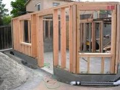 Framed exterior wall. Just good to know stuff
