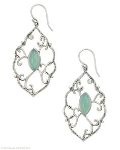 Wearing these lovely Earrings proves your fashion sense is timeless. Chalcedony, Cubic Zirconia, Sterling Silver.