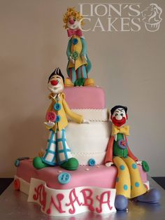 clown cake Carnival Cakes, Circus Cakes, Clown Cake, Cocoa Cola, Lion Cakes, Clay Cats, Dream Kids, Send In The Clowns, Sugar Art