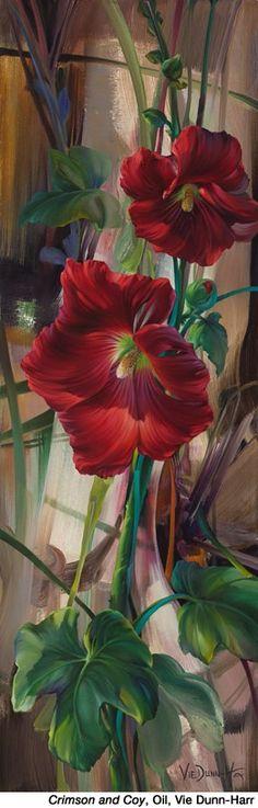Crimson & Coy, Oil by Vie Dun Harr