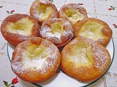g flour ¼ litre milk 1 Pck. Yeast (I use active dry yeast) 50 g powdered sugar 5 egg y Swiss Recipes, Pastry Board, Round Cookie Cutters, Dough Bowl, Dry Yeast, Churros, Bagel, Doughnut, Food And Drink