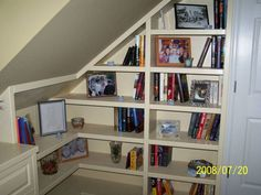 I'm going to build bookshelves someday, but I have an angled wall to contend with...