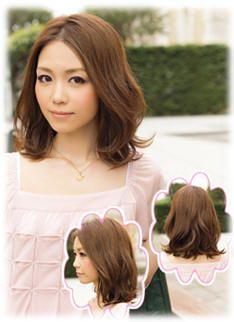 Japanese Sweet Girl Medium Length Hairstyle