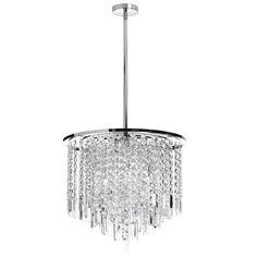 (K)8LT Crystal Chandelier : 2C_2X   Sescolite Lighting  Dining room?