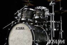 Tama STAR Walnut Drums in Satin Charcoal Japanese Sen