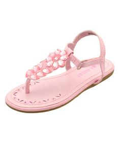 "Laura Ashley Girls ""Teardrop Gem"" Sandals (Toddler Sizes 5 – 10) - CookiesKids.com"
