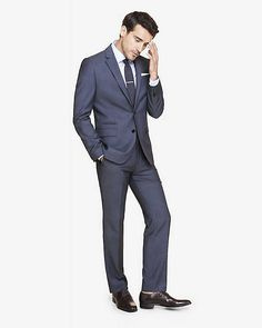 Slim Photographer Micro Twill Navy Suit | Express