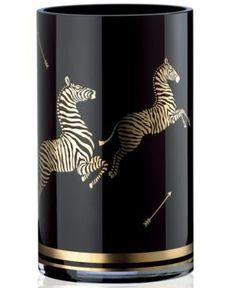 { Zebra Black Large Vase }
