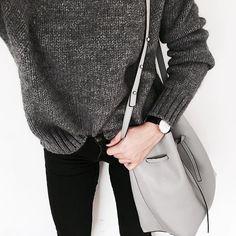 Moniʞa  @brunettefashionn_ Details ▫️ #grey ...Instagram photo | Websta (Webstagram)
