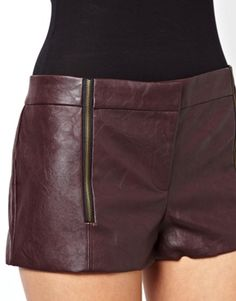 Image 3 ofLucca Couture Leather Look Shorts