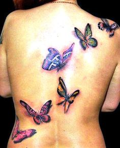 5656c861cc533 16 Best Butterfly Back Tattoos images in 2017 | Back tattoos ...