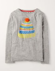 Mini Boden Long Sleeve Embellished Tee Grey Marl/Hat Girls Whether youre popping to the shops or ready to party, this T-shirt adds instant sparkle. The long-sleeved shape keeps out the chill, while cute red stripes and a gold sequin bow stand out from the cro http://www.MightGet.com/january-2017-13/mini-boden-long-sleeve-embellished-tee-grey-marl-hat-girls.asp