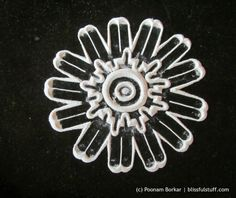 Easy and simple flower shaped rangoli pattern -2 | Rangoli by Poonam Borkar - YouTube