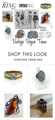 """""""Put A Ring On It!"""" by martinimermaid ❤ liked on Polyvore featuring Tiffany & Co. and vintage"""