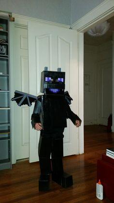 Minecraft Ender Dragon - Minecraft World Minecraft Halloween Costume, Minecraft Costumes, Dragon Halloween, Boy Costumes, Couple Halloween Costumes, Halloween Kids, Halloween Crafts, Costume Ideas, Halloween 2018
