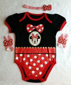 6-9mo Baby Girl Minnie Mouse Onsie Minnie by CraftyGiftsByMumsy