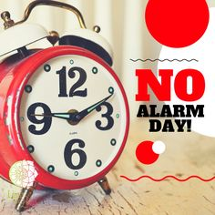 Turn off the alarm clock and just spend the day the way how you want it to be. By Lime and Lotus Organics.