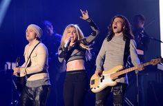 Reid Perry, Kimberly Perry, and Neil Perry of The Band Perry perform during Super Bowl week at Super Bowl City in San Francisco, Calif., on Feb. 4, 2016