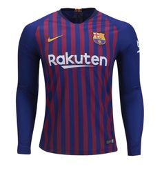 78e9d60d9c Men s FC Barcelona 2018-2019 Home Stadium Player Jersey Long Sleeveâ   Blue
