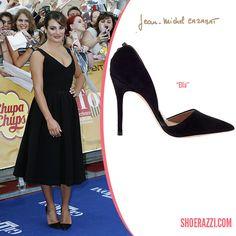 Lea Michele in Jean-Michel Cazabat Ella Black Suede d'Orsay Pumps - ShoeRazzi