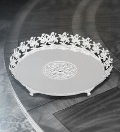 Tray with Flowers Round Big  With this multifunctional beautiful tray, you can use it for decoration in just about any room of the house.  http://www.thedivineluxury.com/product/Tray-with-Flowers-Round-Big.html