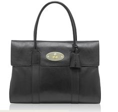 867167cd6a7 Mulberry Bayswater Black Soft Spongy Leather 10 x 14 x 6 (H W D) Handle  drop 6